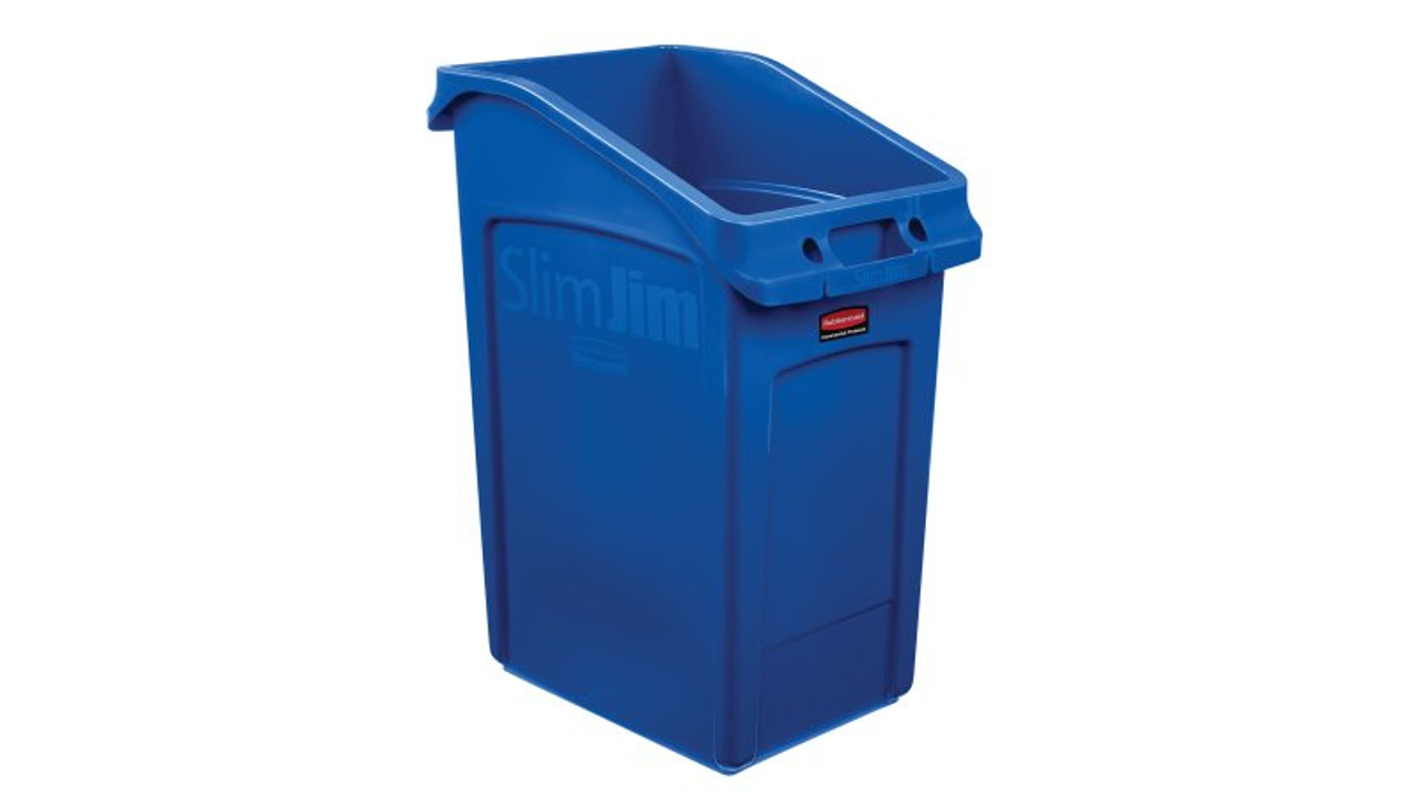 Rubbermaid Slim Jim 87 Litre Under Counter Container Blue