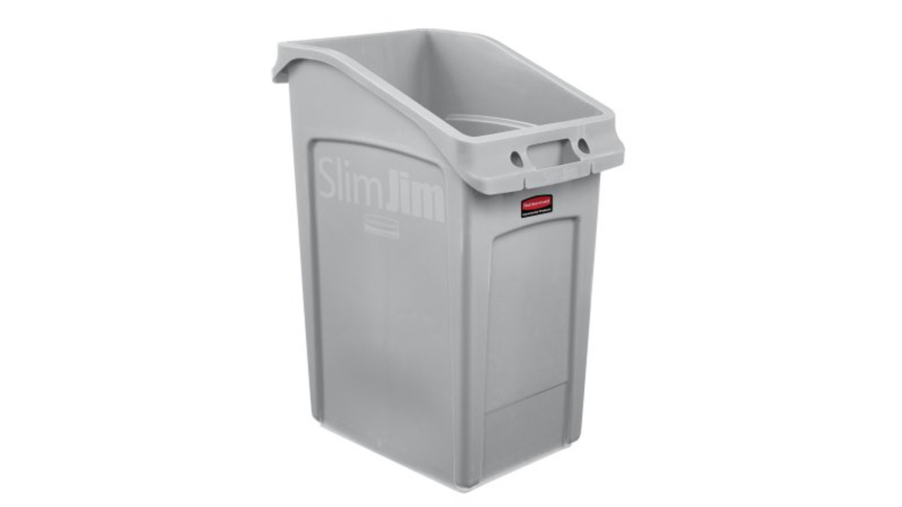 Rubbermaid Slim Jim 87 Litre Under Counter Container Gray