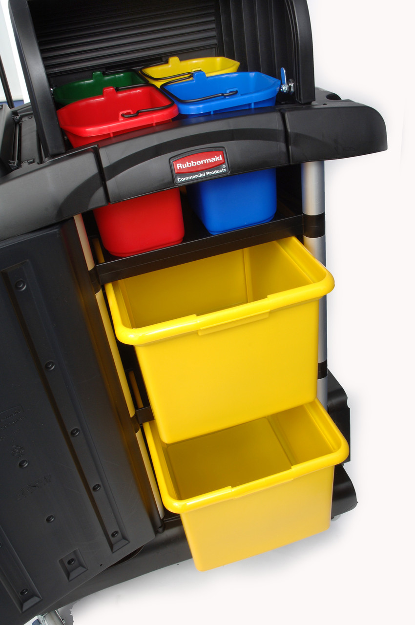 Rubbermaid Secure Microfibre Cart with Security Hood - Assembled