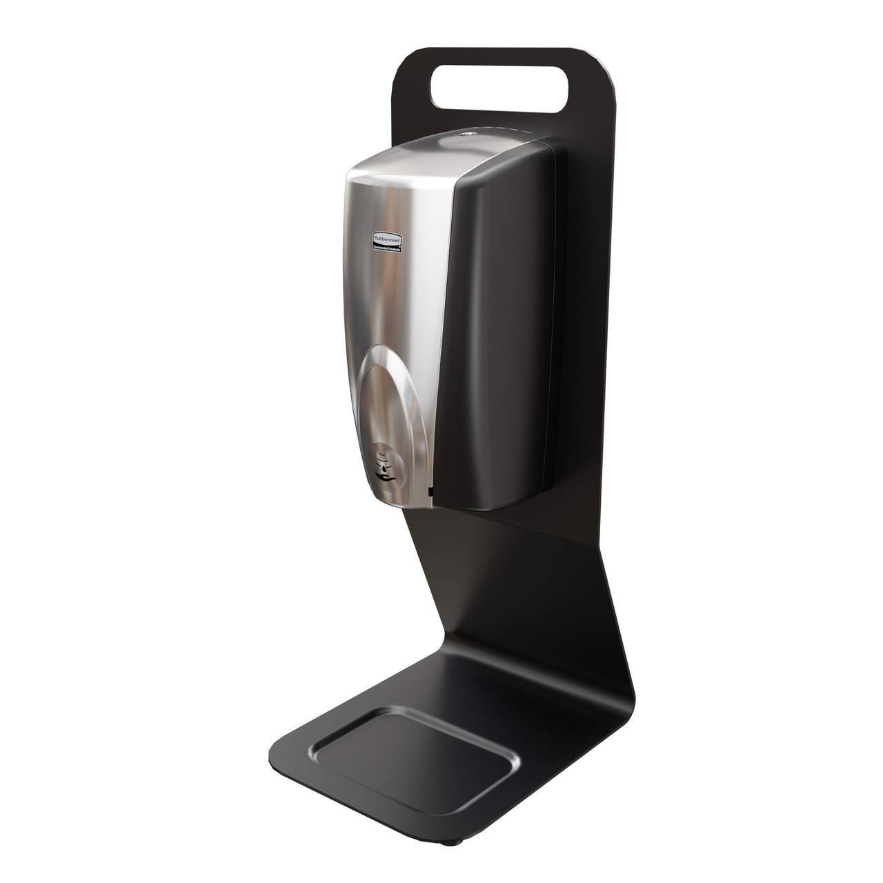 2143544 - Rubbermaid AutoFoam Countertop Station - Black - Integrated drip tray helps catch drips or spills and keeps surfaces clean