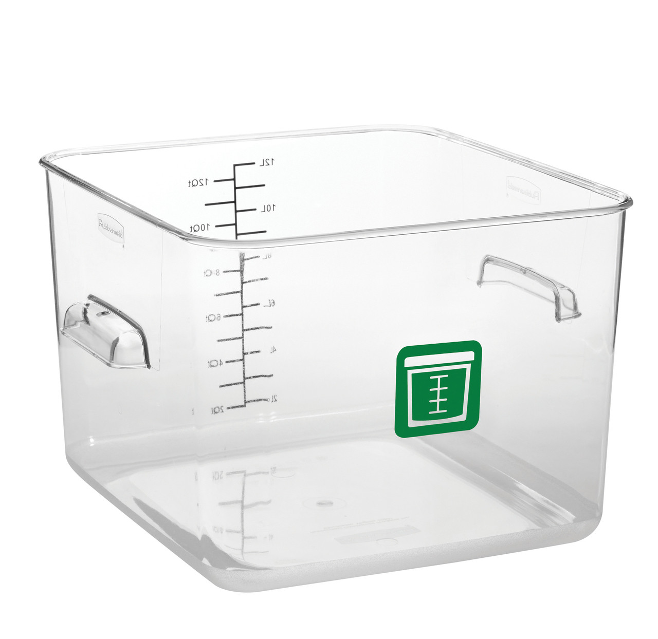 Rubbermaid Square Container - Clear - 11.4L  Green