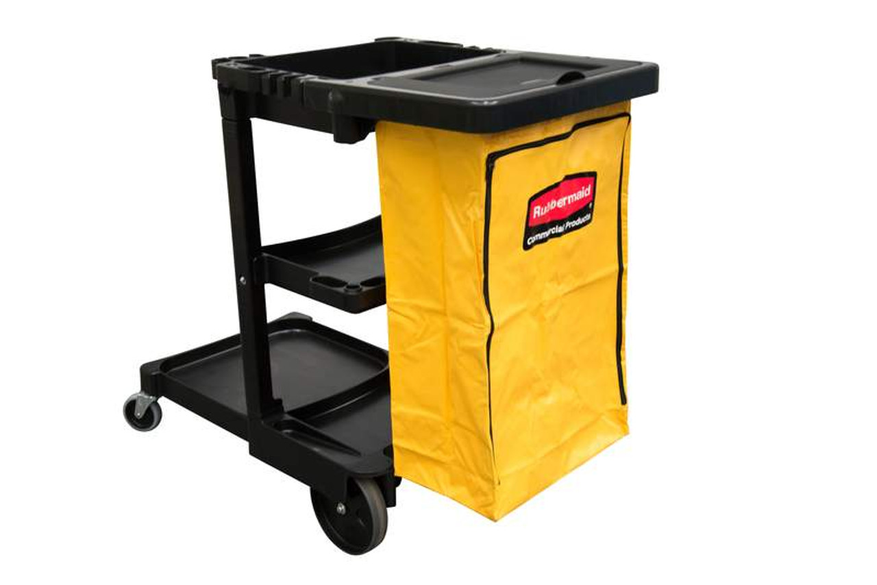 Rubbermaid Janitor Cart With Bag - 1805985