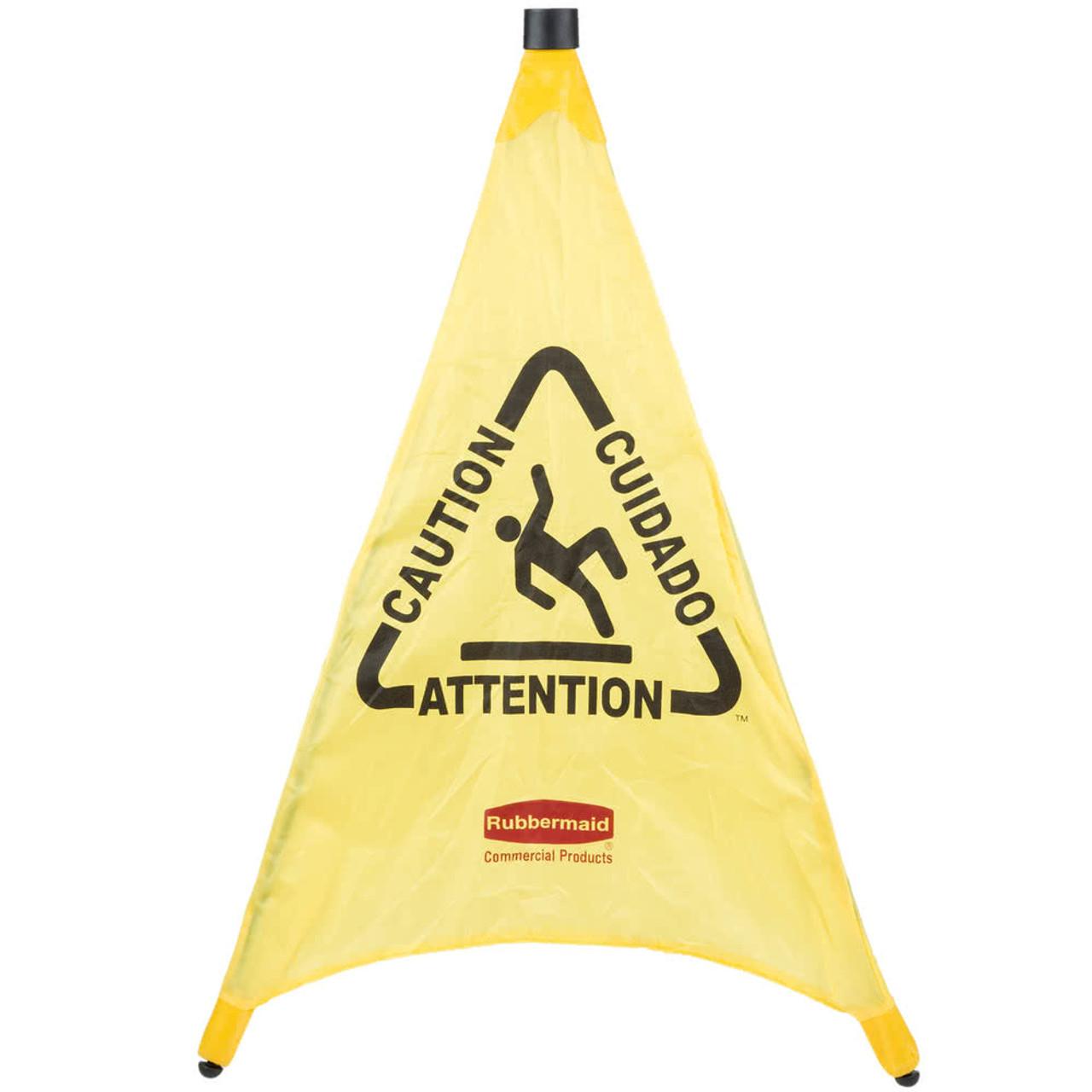 Rubbermaid Pop-Up Cone 76 cm - Multilingual Caution Symbol