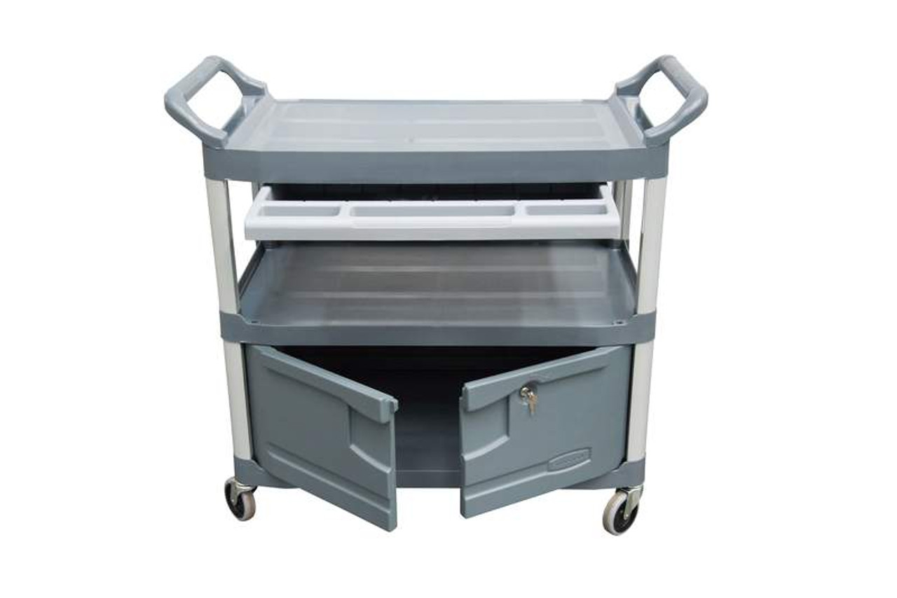 Rubbermaid X-Tra Cart Incl. Drawer + Cabinet - FG409400GRAY