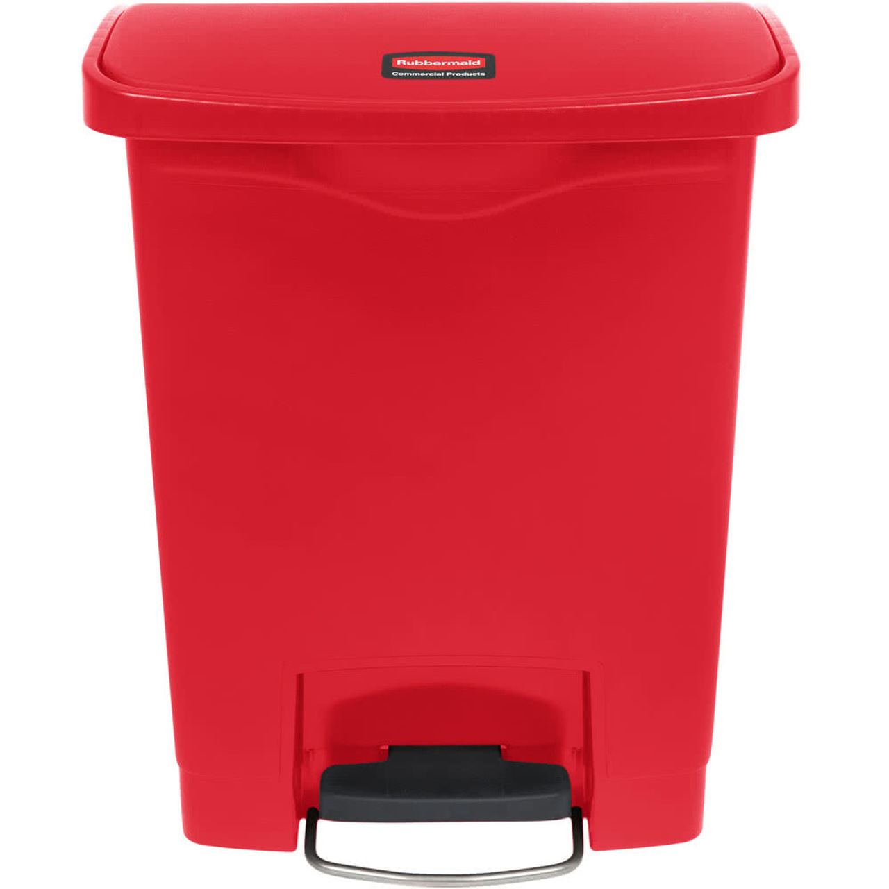 Rubbermaid Slim Jim 30L Resin Front Step Step-On Red