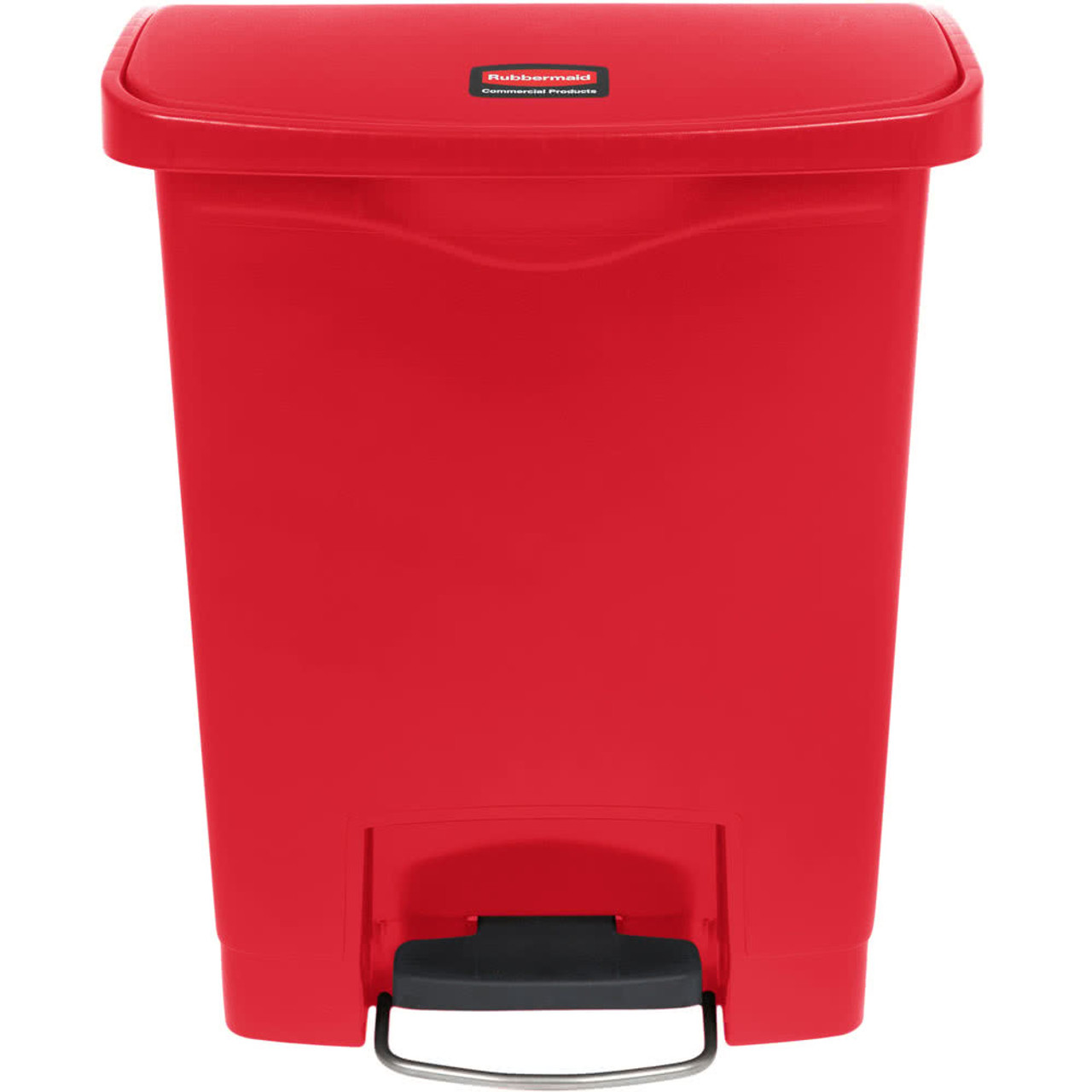 Rubbermaid Slim Jim 30L Resin Front Step Step-On Red - 1883564