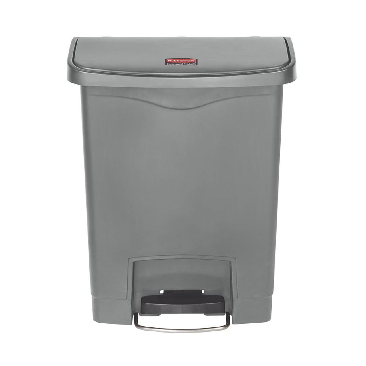 Rubbermaid Slim Jim 30L Resin Front Step Step-On Gray
