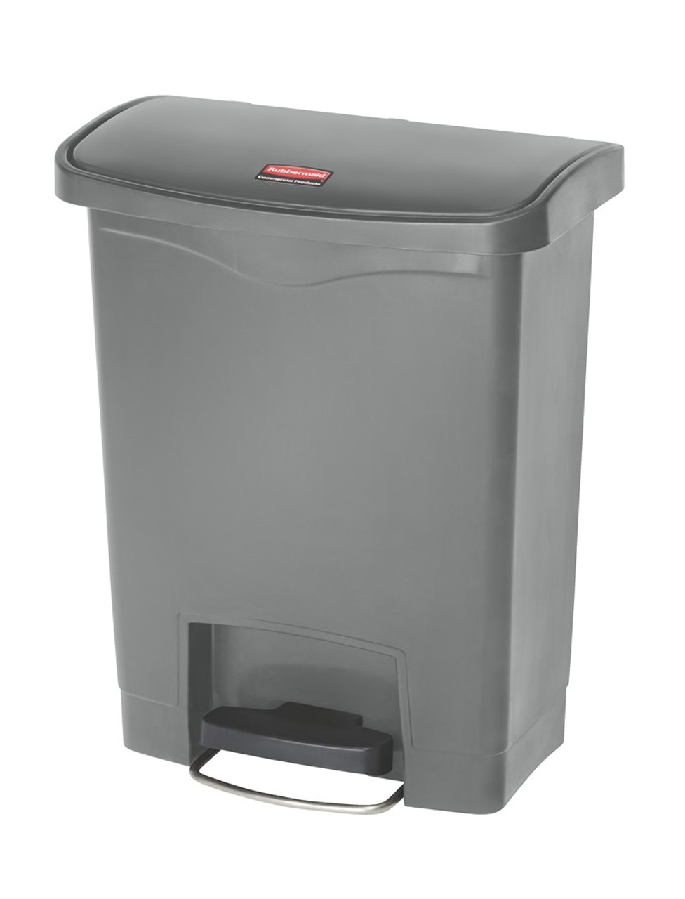 Rubbermaid Slim Jim 30L Resin Front Step Step-On Gray - 1883600