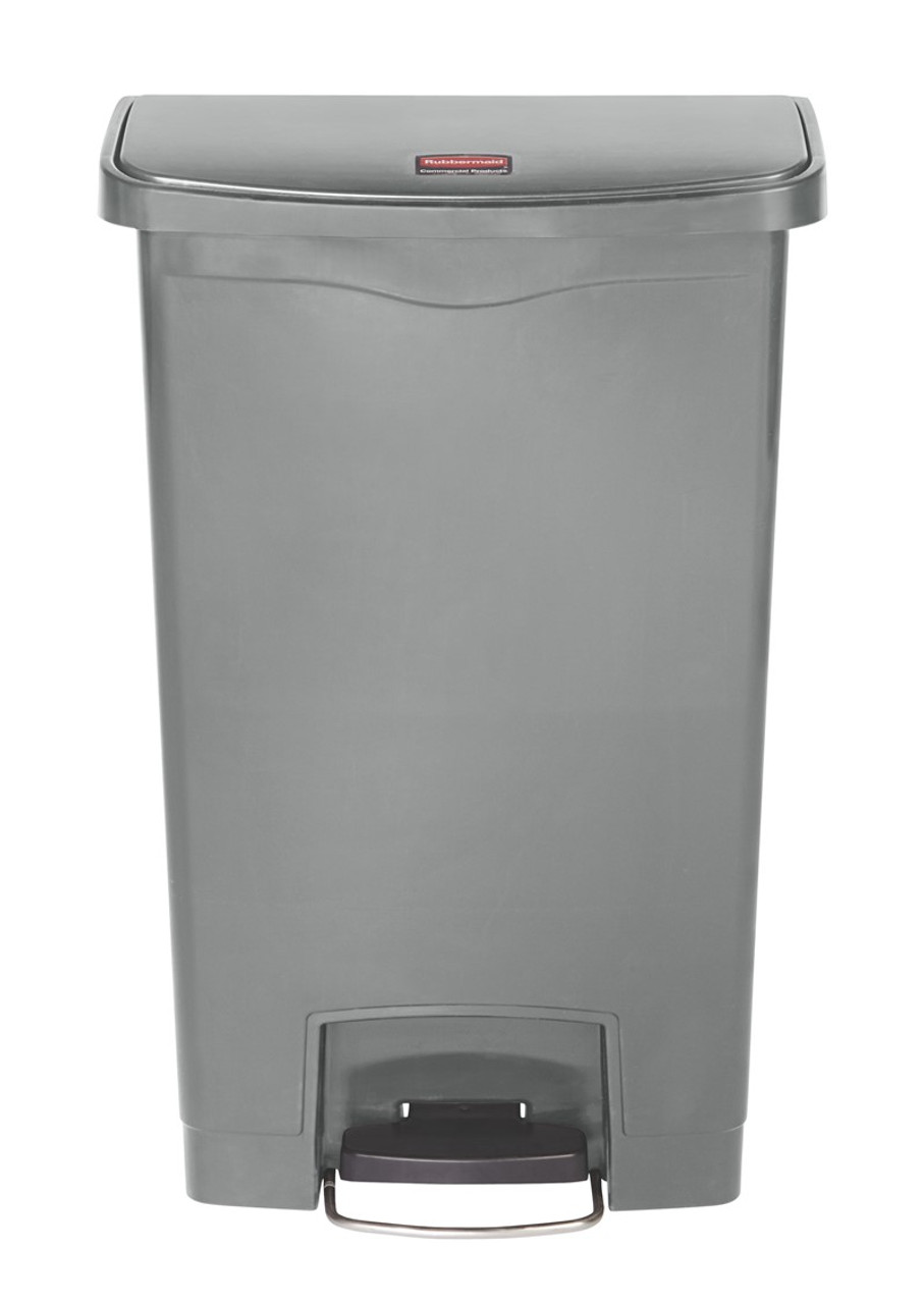 Rubbermaid Slim Jim 50L Resin Front Step Step-On Gray - 1883602