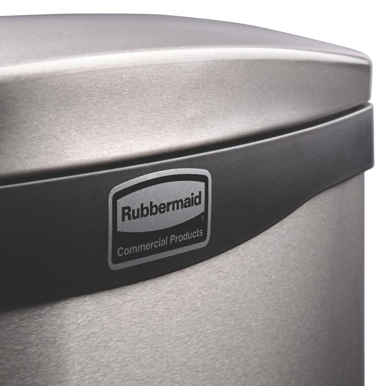 Rubbermaid Slim Jim 50L Metal Front Step Step-On Black - 1901992