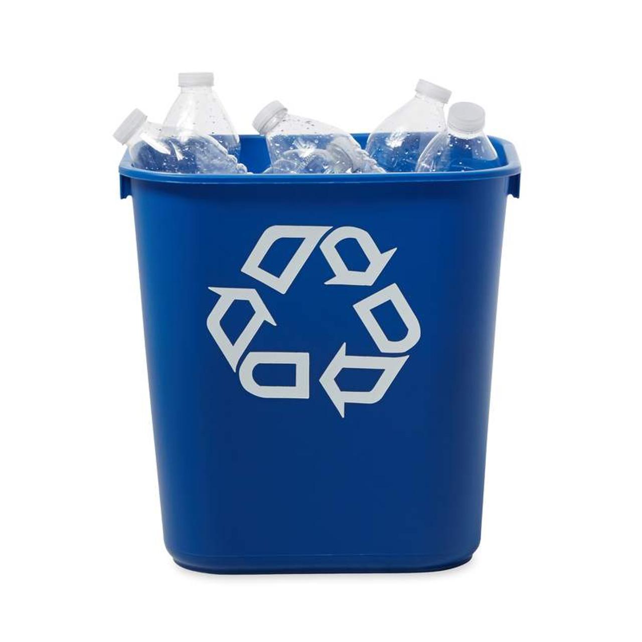 12.9 Litre Blue Rubbermaid Recycling Bin Wastebasket