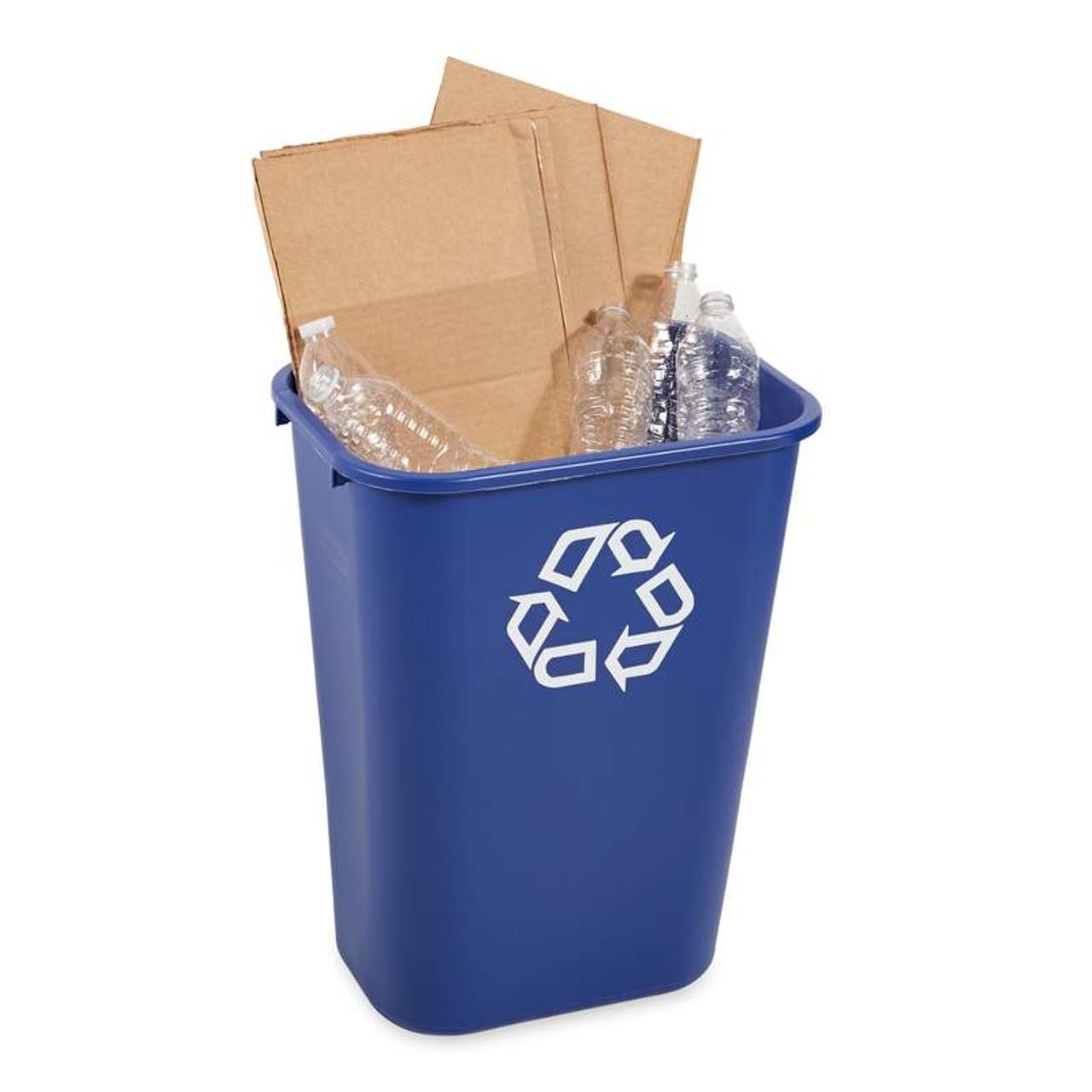 Rubbermaid Rectangular Wastebasket 39 L - Blue - FG295773BLUE