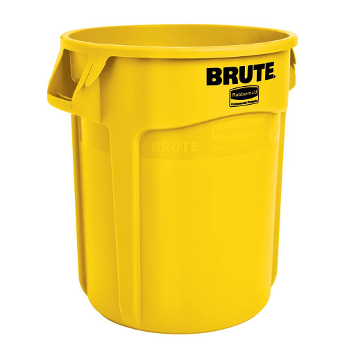Rubbermaid Brute Container With Venting Channels 166.5 L - Yellow