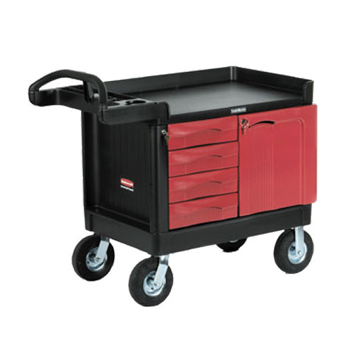 Rubbermaid Trademaster - 4 Drawer, 1 Door Mobile Cabinet