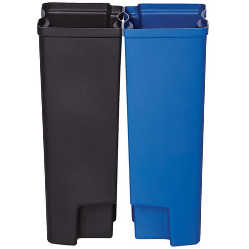 Rubbermaid Dual Liner Set For Slim Jim 50L Metal End Step