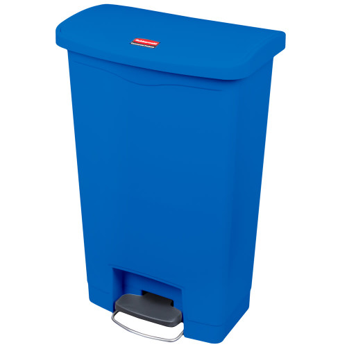 Rubbermaid Slim Jim 50L Front Step On Resin Blue