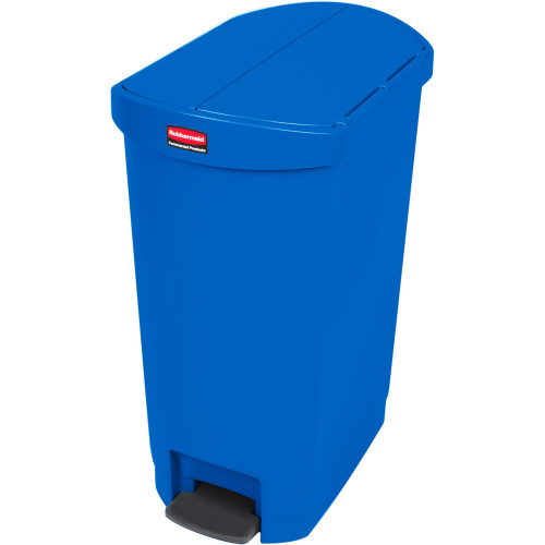 Rubbermaid Slim Jim 50L End Step On Resin Blue