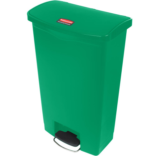 Rubbermaid Slim Jim 68L Front Step On Resin Green