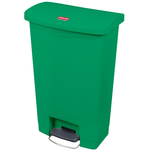 Rubbermaid Slim Jim 90L Front Step On Resin Green