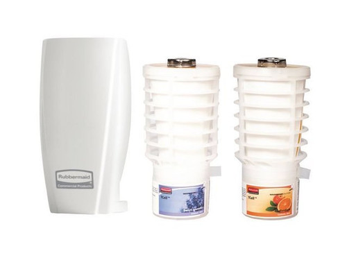 Rubbermaid TCell Starter Kit (White) & 2 Fragrances (Sweet Lavender & Mandarin)