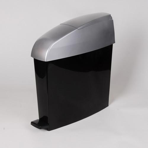 Rubbermaid Miniped 12L Capacity Bin New Satin Lid/Black Body