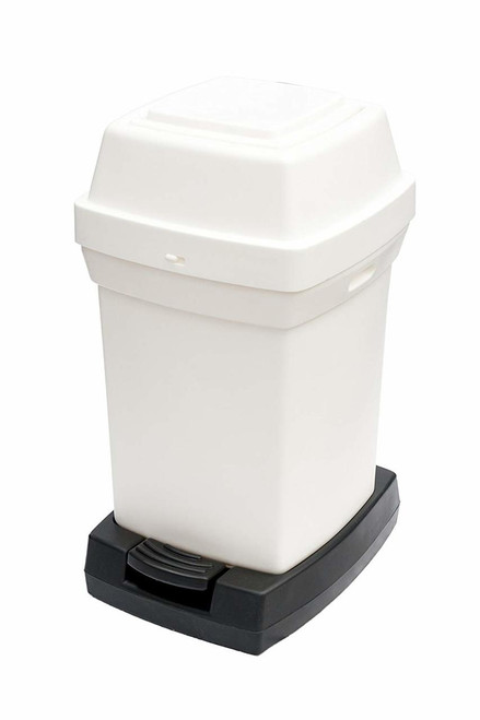 Rubbermaid Nap2 65L Capactiy Pedal-Operated Nappy Bin - White - 770X410X470mm