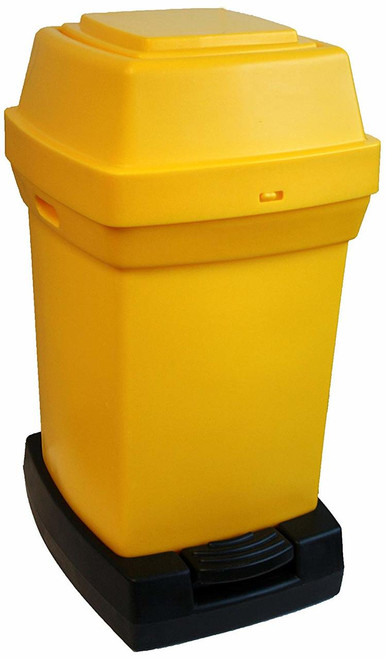 Rubbermaid Nap2 65L Capactiy Pedal-Operated Nappy Bin - Yellow - 770X410X470mm