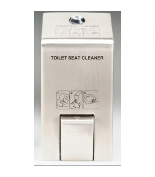 Rubbermaid 400ml Generic Spray Seat & Handle Cleaner Dispenser - Stainless Steel - RBR9001BD35001