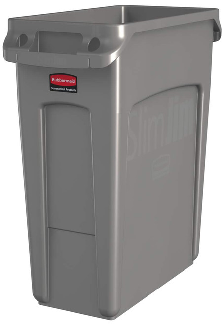 Rubbermaid Slim Jim With Venting Channels 60L - Beige
