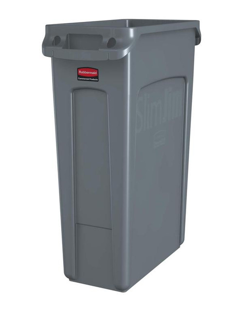 Rubbermaid Slim Jim With Venting Channels 87 L - Grey