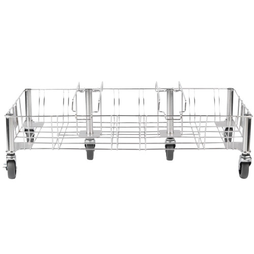 Rubbermaid Slim Jim Stainless Steel Triple Dolly