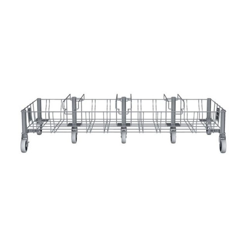 Rubbermaid Slim Jim Stainless Steel Quadruple Dolly