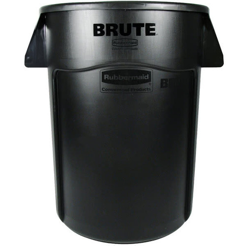 Rubbermaid Brute Container With Venting Channels 166.5 L - Black