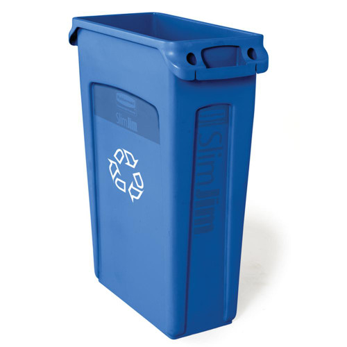 Rubbermaid Slim Jim With Venting Channels 87 L - Blue