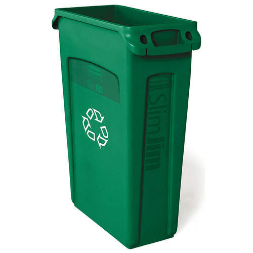 Rubbermaid Slim Jim With Venting Channels 87 L - Green