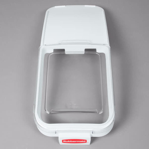 Rubbermaid Sliding Lid With 0.9 L Scoop For FG360088WHT Ingredient Bin