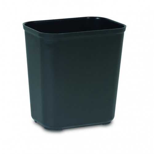Rubbermaid Fire Resistant Wastebasket 13.2 L - Black