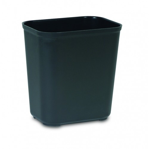 Rubbermaid Fire Resistant Wastebasket 26.5 L - Black