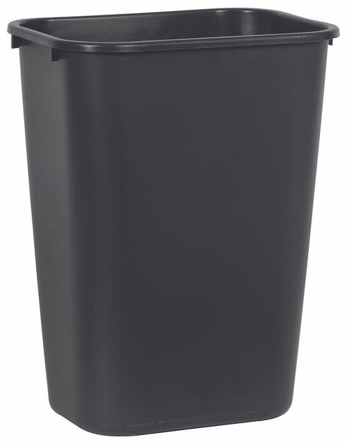 Rubbermaid Rectangular Wastebasket 39 L - Black