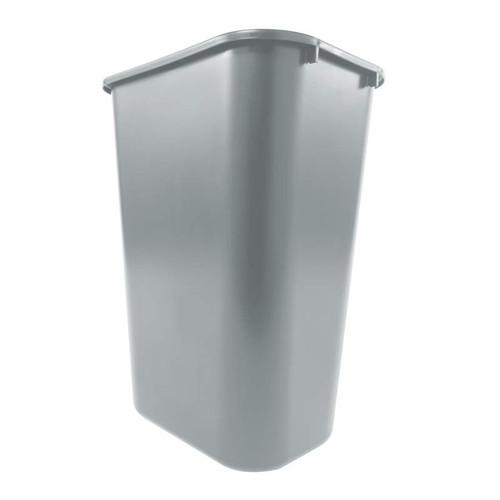 Rubbermaid FG295700BLA Rectangular Wastebasket Pack of 12 Black 39 L