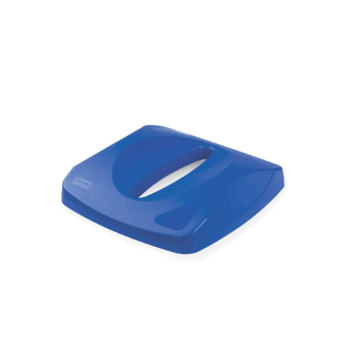 Rubbermaid Paper Recycling Top fits Untouchable Container - Blue