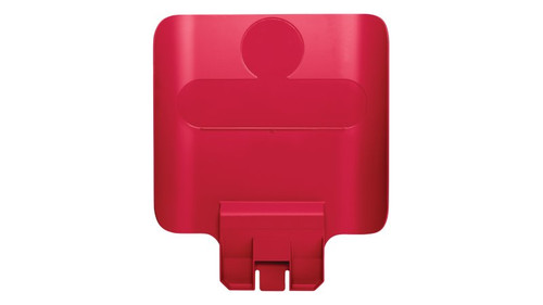 Rubbermaid Slim Jim Recycling Station Billboard - Red