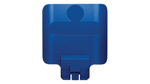 Rubbermaid Slim Jim Recycling Station Billboard - Blue