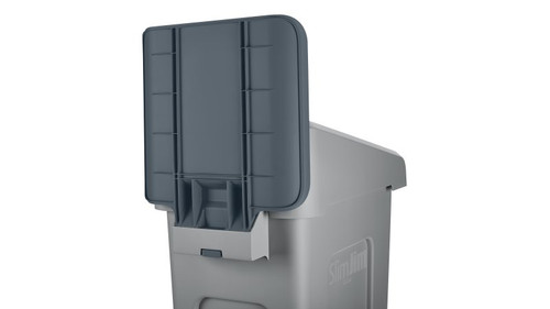 Rubbermaid Slim Jim Recycling Station Billboard - Gray
