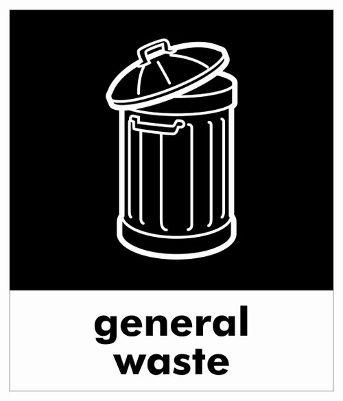 Small Waste Stream Sticker - General Waste
