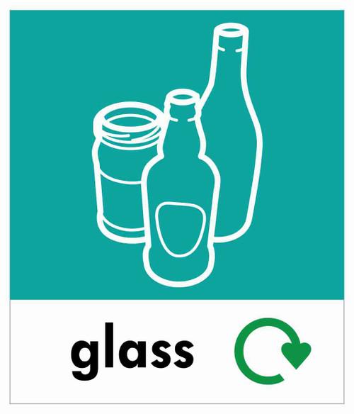 Small Waste Stream Sticker - Glass