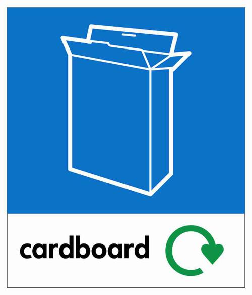 Small Waste Stream Sticker - Cardboard