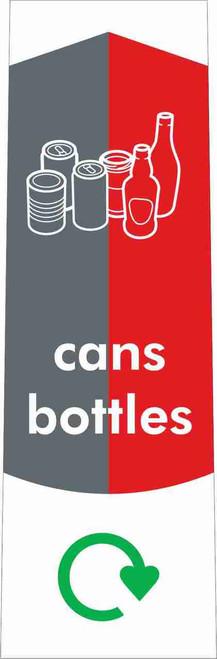 Slim Waste Stream Sticker - Cans & Bottles