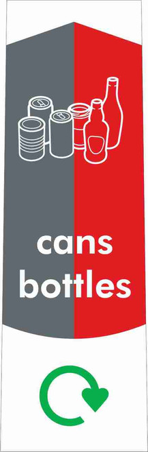 Slim Waste Stream Sticker - Cans & Bottles