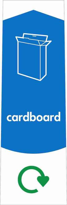 Slim Waste Stream Sticker - Cardboard